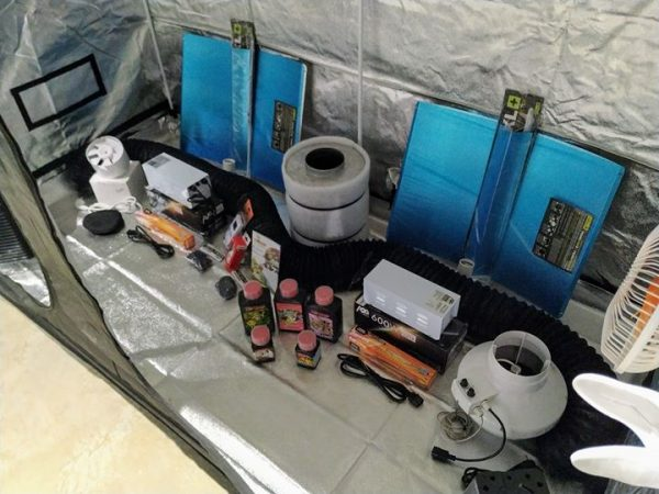 kit armario 240x120 2x600 watt