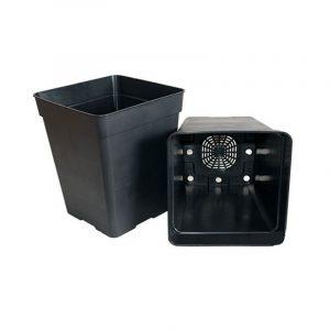 maceta cuadrada negra 7 litros